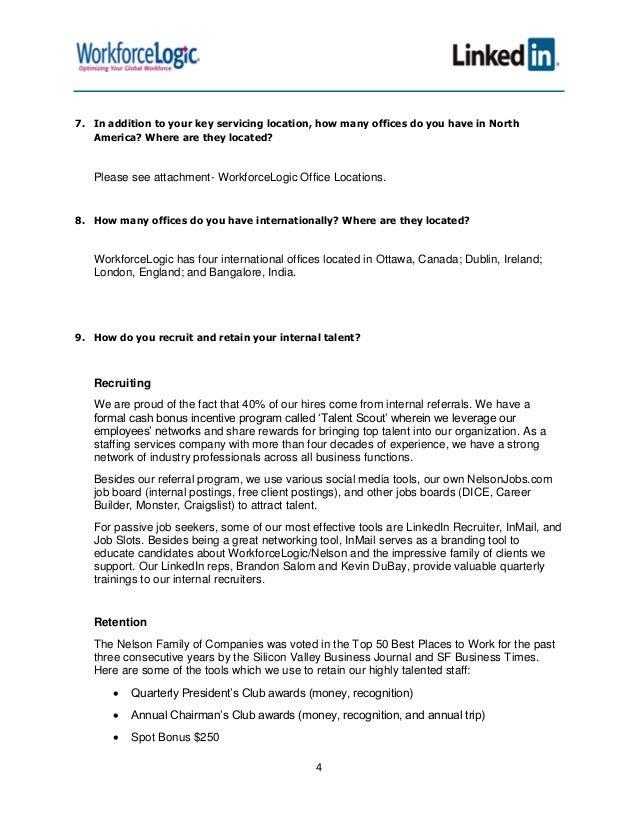 WFL - LinkedIn RFP Response FINAL