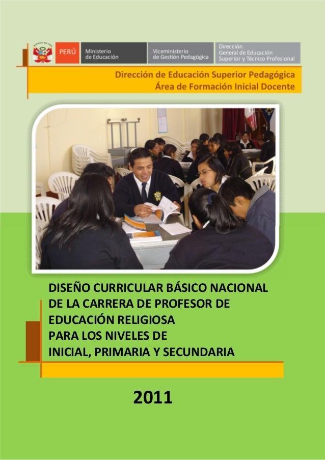 Dise o curricular b sico nacional de la carrera de for Diseno curricular primaria