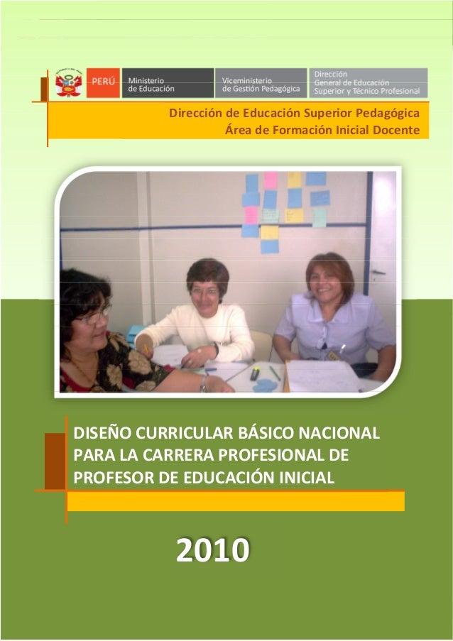 Dise o curricular basico nacional de inicial 2010 peru for Diseno curricular educacion inicial