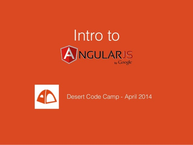Intro to Desert Code Camp - April 2014