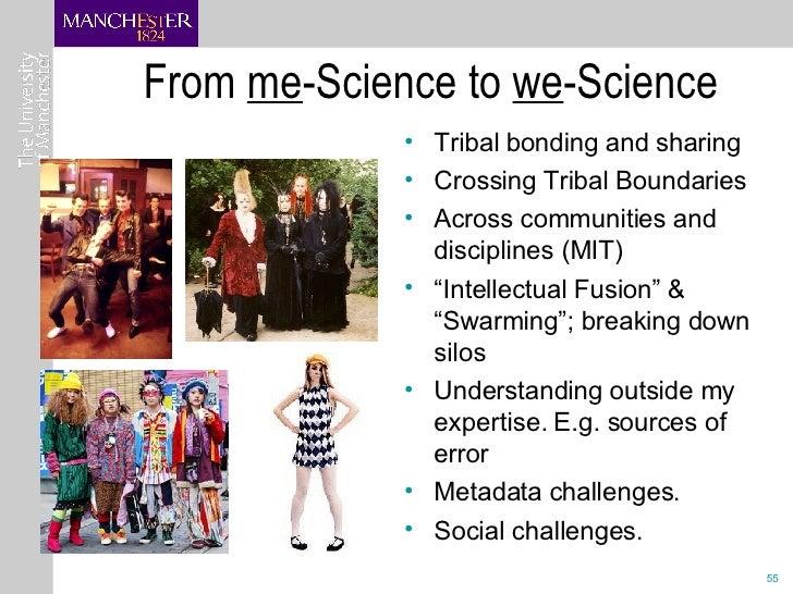From  me -Science to  we -Science <ul><li>Tribal bonding and sharing </li></ul><ul><li>Crossing Tribal Boundaries </li></u...