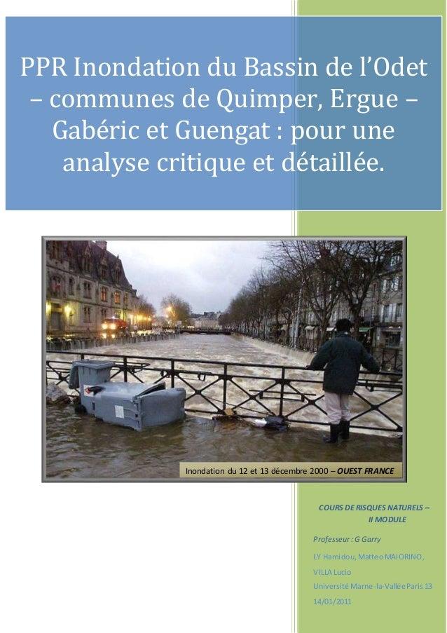 COURS DE RISQUES NATURELS – II MODULE Professeur:G Garry LY Hamidou, MatteoMAIORINO, VILLA Lucio Université Marne-la-Vallé...