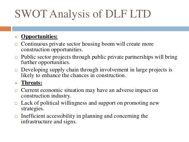 dlf swot analysis Festival and special event management print reference this impact of dlf ipl on the south african community and indian economy swot analysis of dlf ipl.
