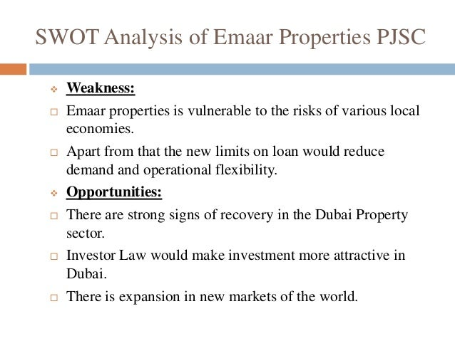 Emaar swot analysis