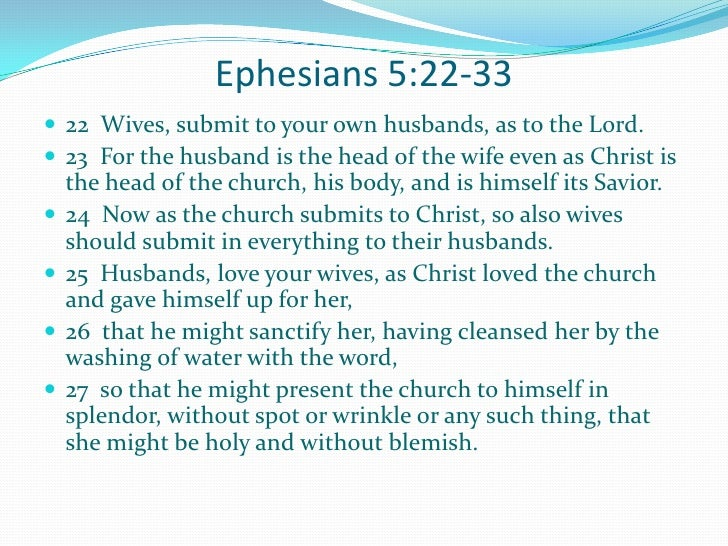 Biblical responsibility of a wife