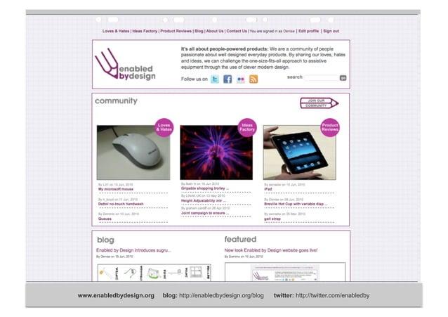 Obstacles www.enabledbydesign.org blog: http://enabledbydesign.org/blog twitter: http://twitter.com/enabledby Time (obstac...