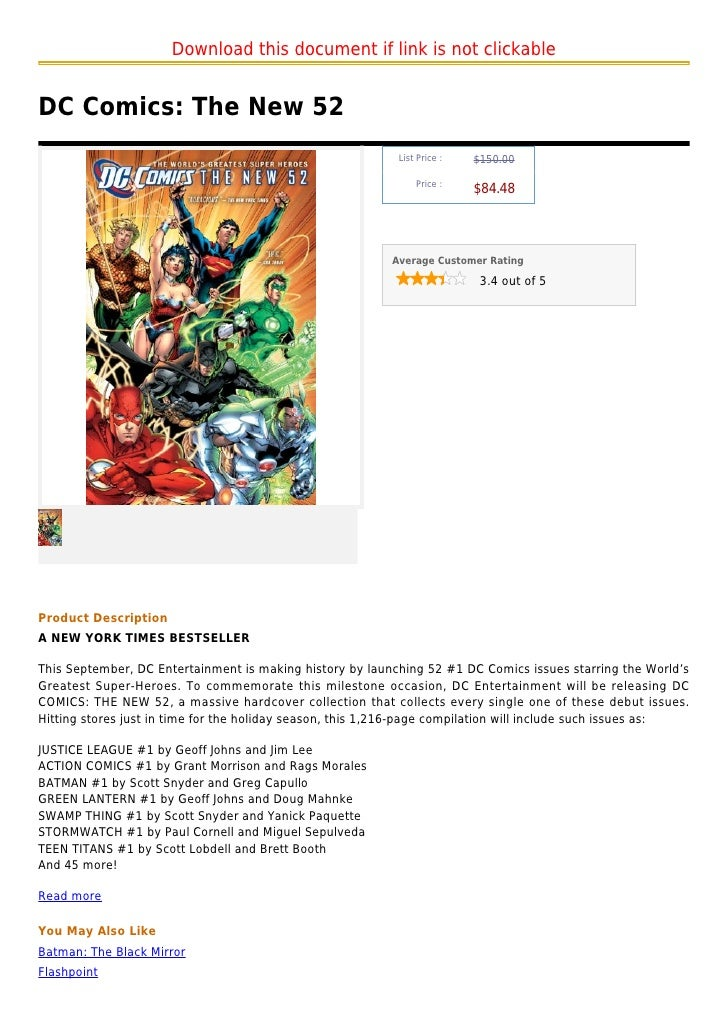 Download this document if link is not clickableDC Comics: The New 52                                                      ...