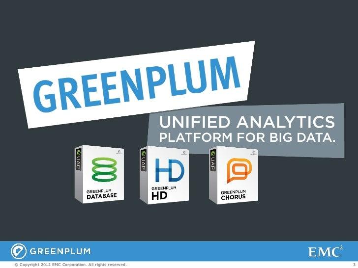Greenplum Database Overview  Slide 3