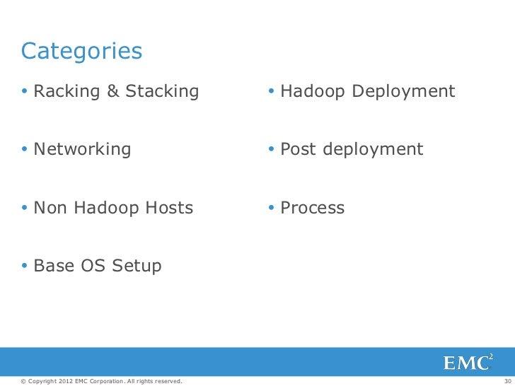 Categories Racking & Stacking                                      Hadoop Deployment Networking                        ...