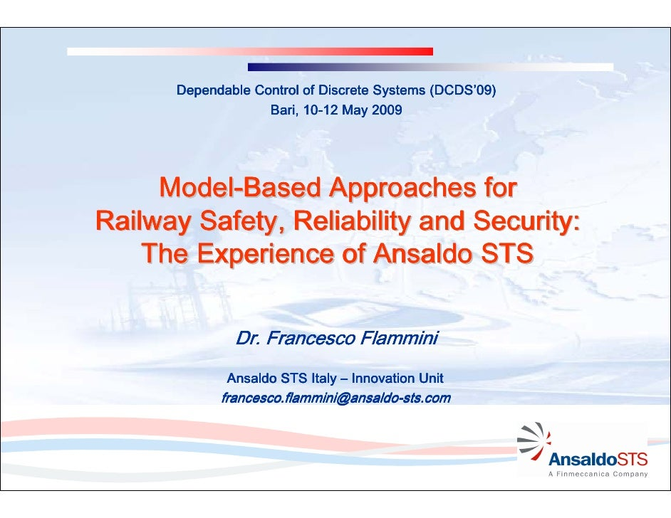 (DCDS'       Dependable Control of Discrete Systems (DCDS'09)                    Bari, 10-12 May 2009                     ...