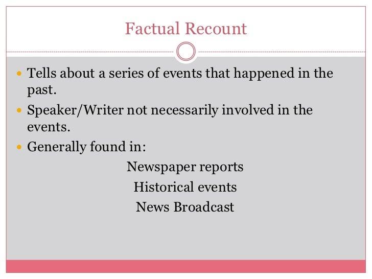 factual recount