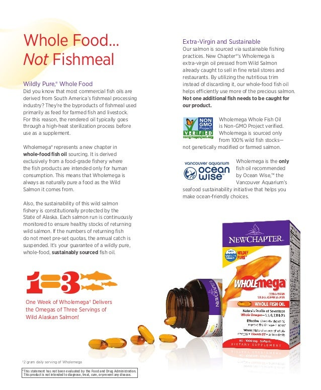 Wholemega whole fish oil brochure for Whole foods fish oil