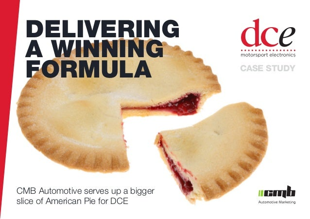 pantone cmyk CMB Automotive serves up a bigger slice of American Pie for DCE DELIVERING A WINNING FORMULA CASE STUDY