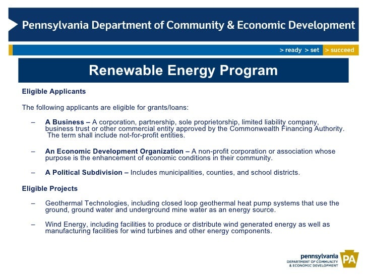 Pa Dced Renewable Energy Program Geothermal And Wind Projects
