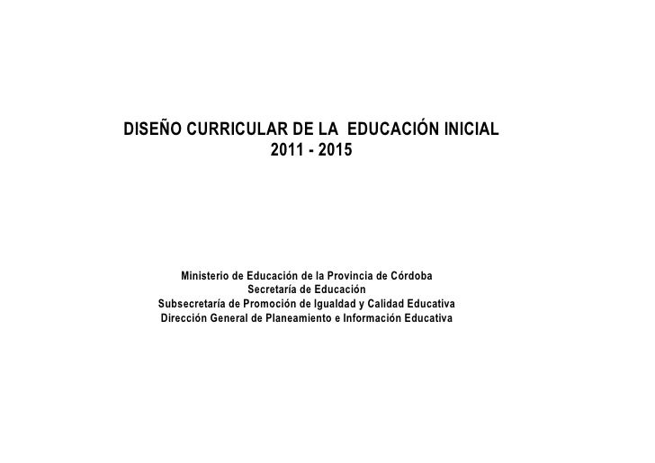 dc educacion inicial On diseno curricular educacion inicial