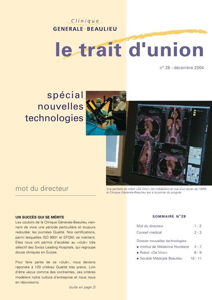 n° 28 - décembre 2004           spécial         nouvelles      technologiesmot du directeur                               ...