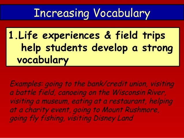 reading habit and vocabulary size This literature review will define reading and phonemic awareness one-size instruction does not fit all children need exposure to a variety of reading materials as input to vocabulary learning, and they need motivating.