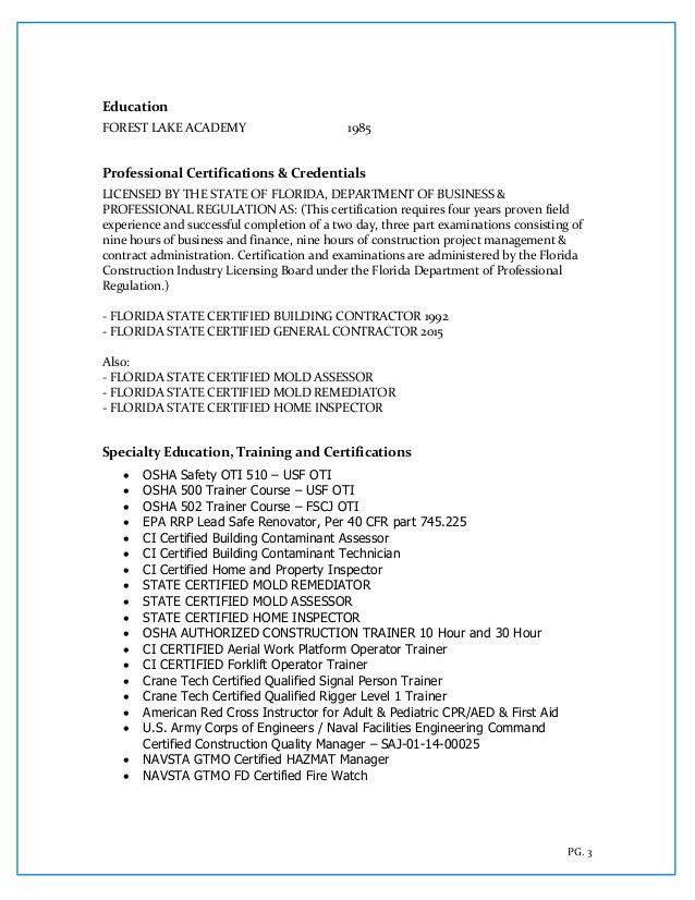 curriculum vitae d creamer 2017
