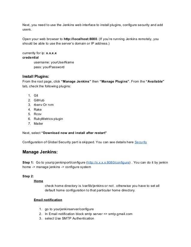 JenkinsCIdocumentations-removedcredentials.docx Slide 3