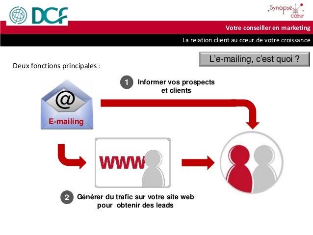 La relation client au cœur de votre croissance Votre conseiller en marketing Générer du trafic sur votre site web pour obt...