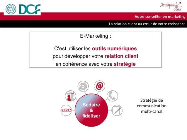 La relation client au cœur de votre croissance Votre conseiller en marketing E-Marketing : C'est utiliser les outils numér...