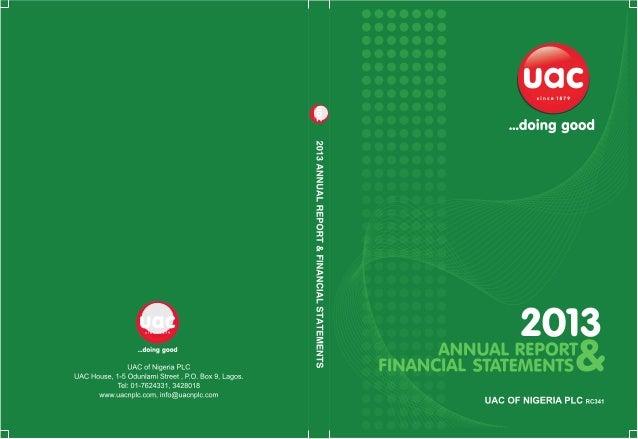 Uac annual report 2013