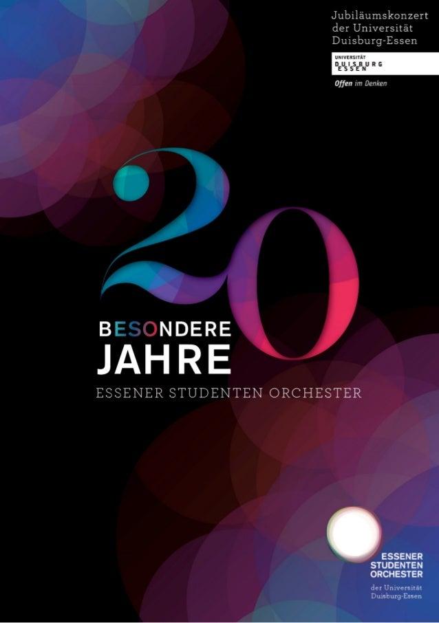 20 bESOndere Jahre: Die Festschrift