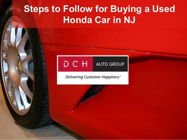 Steps to Follow for Buying a Used Honda Car in NJ