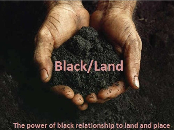What is unique about black people's relationships to land and place?What issues characterize black relationships to land a...
