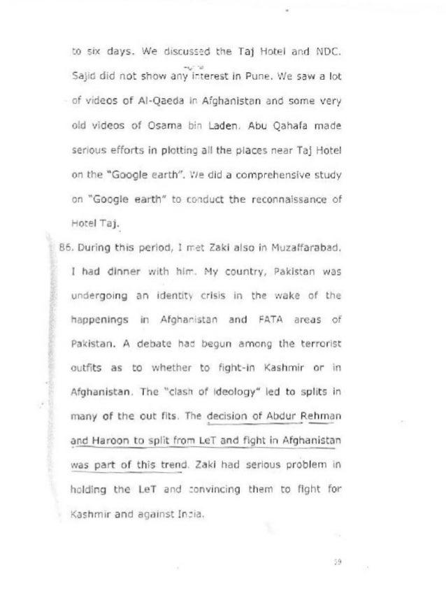 David Coleman Headley Interrogation Report by National Investigation …