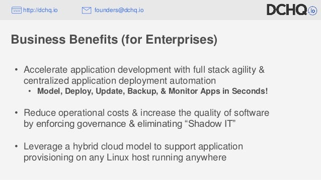 • Accelerate application development with full stack agility & centralized application deployment automation • Model, Depl...
