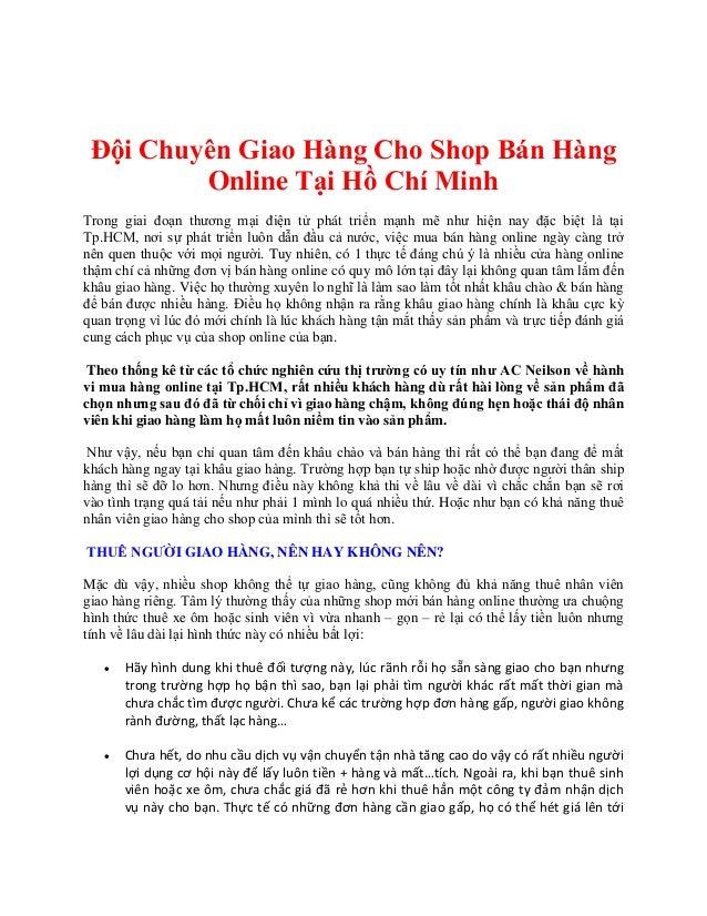 Ở đâu chuyển phát nhanh hàng hóa nội thành hcm thu tiền hộ - Công ty chuyển phát nhanh từ Quận Tân Bình đến Quận Bình Thạn...