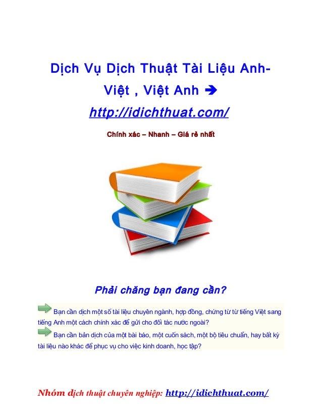 Dịch vụ dịch thuật việt anh theo yêu cầu – Ở đâu dịch thuật văn bản việt sang anh hay 2013Dịch vụ dịch thuật việt anh theo...