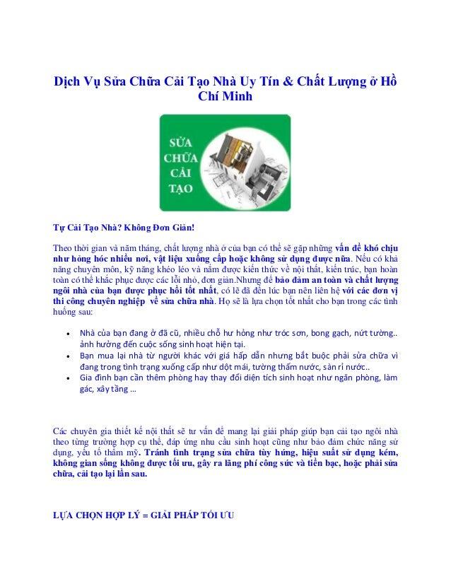 Cần thợ cải tạo nhà Quận Tân Phú HCM - Cần thợ cải tạo nhà Quận Bình Thạnh Dịch Vụ Sửa Chữa Cải Tạo Nhà Uy Tín & Chất Lư...