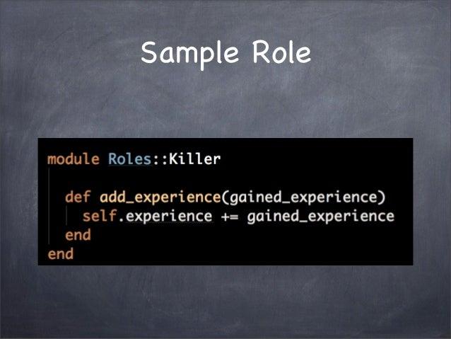 Sample Role