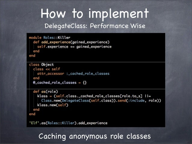 How to implementDelegateClass: Performance WiseCaching anonymous role classes