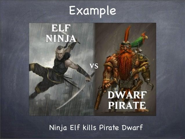 ExampleNinja Elf kills Pirate Dwarf