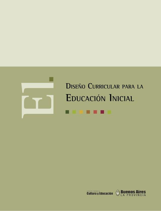 Diseño Curricular Para La Educación Inicial De La Provincia