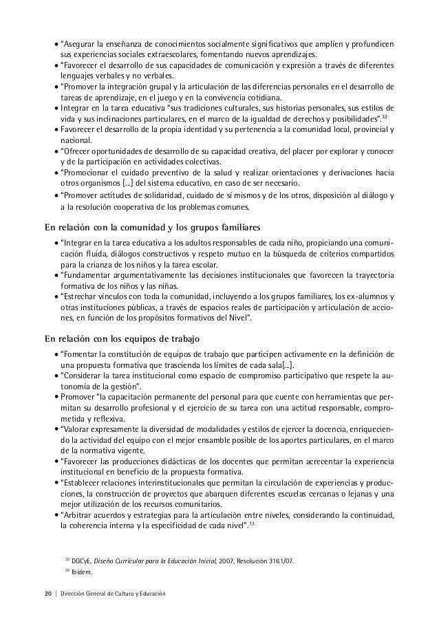 Diseño Curricular para la Educación Inicial de la Provincia de Buenos…