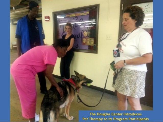 The Douglas Center Introduces Pet Therapy to its Program Participants