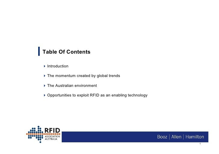 Table Of Contents  Introduction  The momentum created by global trends  The Australian environment  Opportunities ...