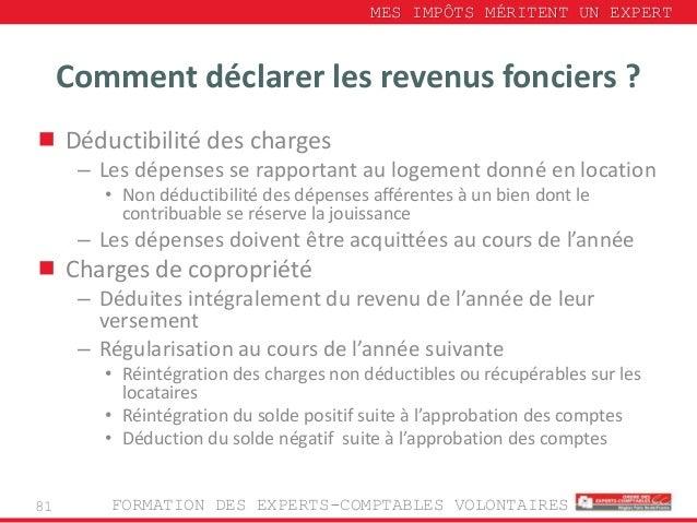 D claration des revenus campagne 28 04 2014 1 - Comment declarer revenus location meublee non professionnelle ...