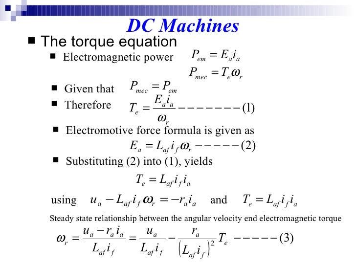 How to calculate dc motor torque for Electric motor torque calculator