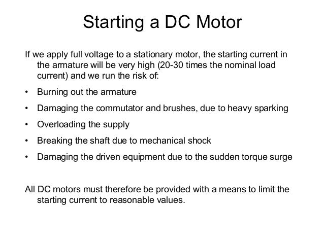 Dc machines1 for Dc motor current limiter