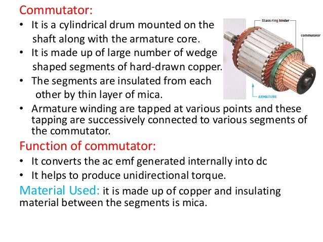 role of commutator in dc motor