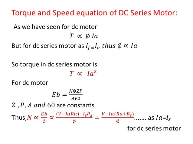 motor speed and torque relationship