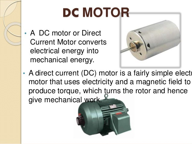 how does a dc motor generate electricity