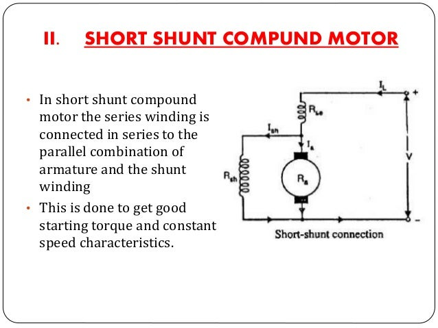 a) CUMULATIVE COMPOUND DC MOTORS b) DIFFERENTIAL COMPOUND DC MOTORS • If the two field windings i.e. series and shunt are ...