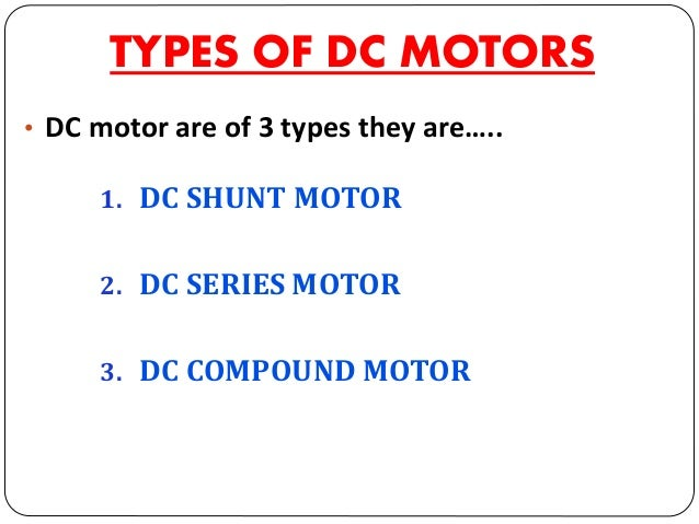 1. DC SHUNT MOTOR Armature • The parallel combination of two windings is connected across a common dc power supply. • The ...