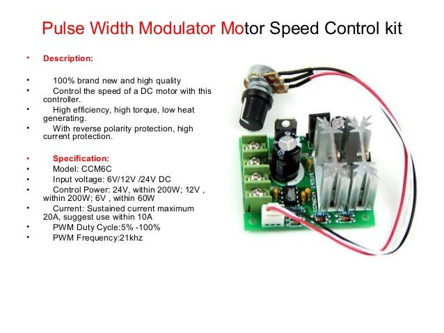 Dc motor speed controller by pwm technique for Speed control electric motor